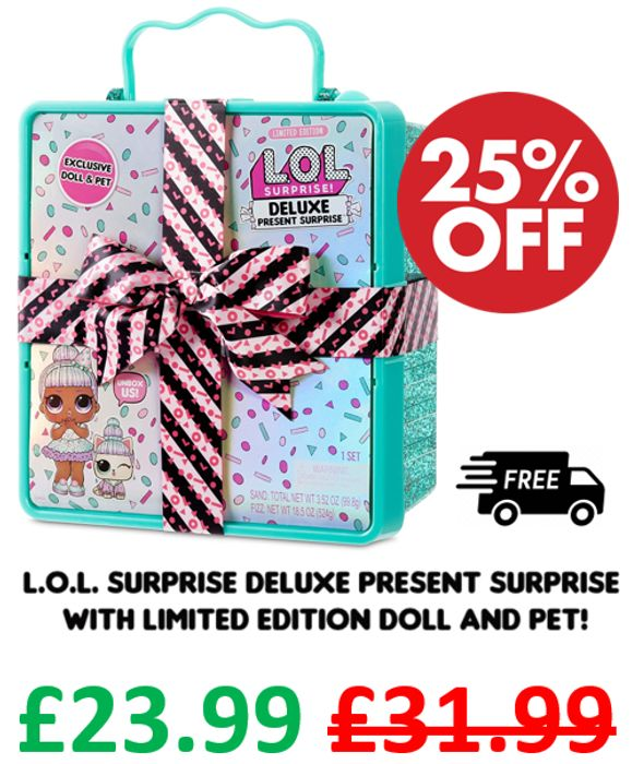 L.O.L. Surprise! Deluxe Present Surprise - Sprinkles Doll and Pet