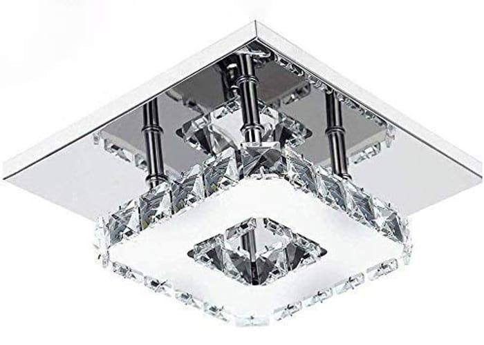 Modern LED Ceiling Lights Crystal Flush