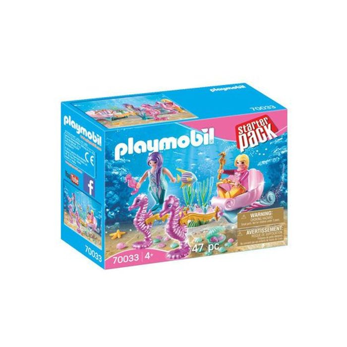 Playmobil 70033 Mermaids Seahorse Carriage Starter Pack
