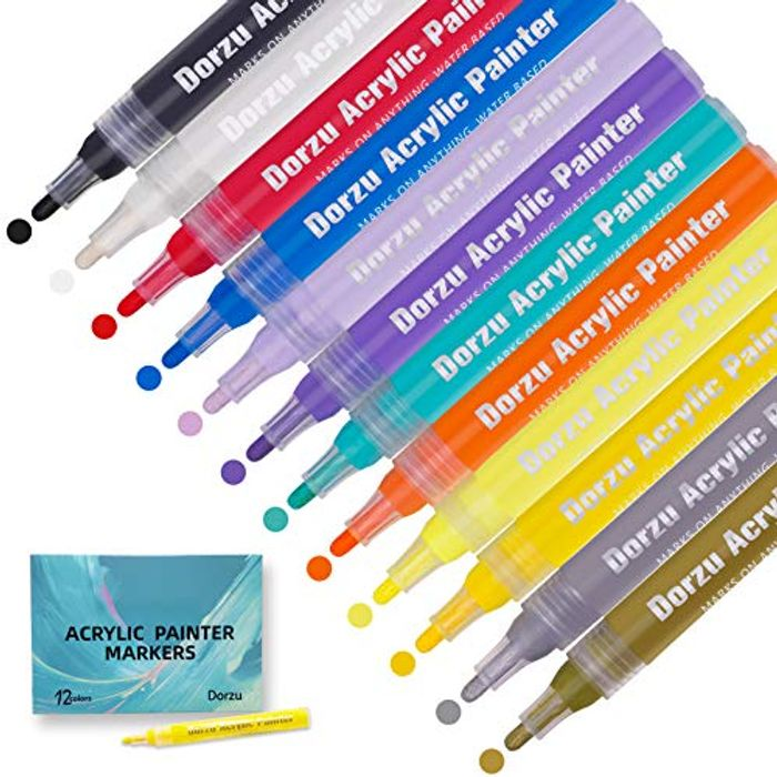 Acrylic Pen Set with 12 Colours