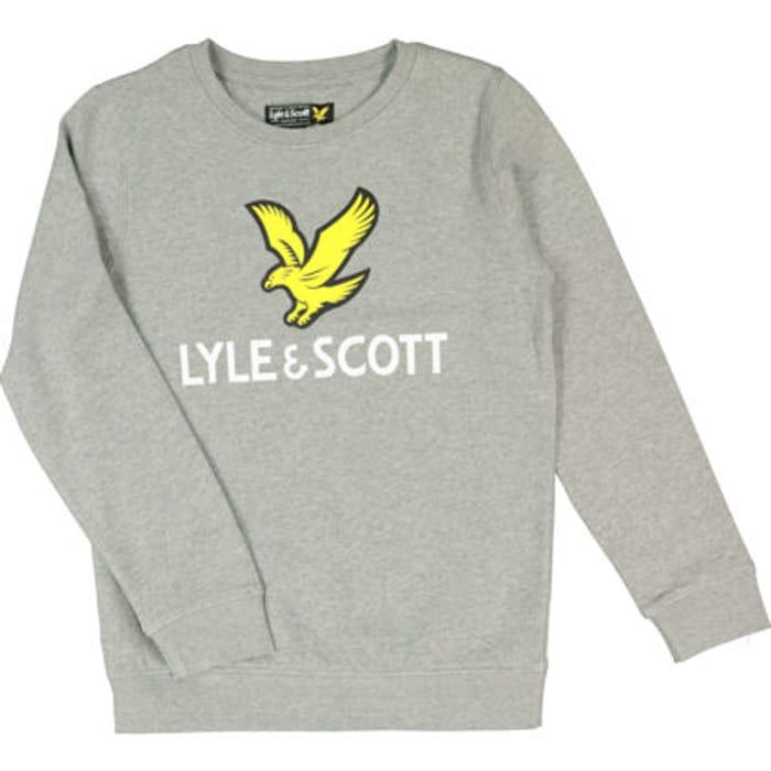 LYLE & SCOTT Grey Heather Eagle Logo Sweatshirt