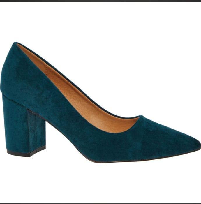 AZAREY Blue Pointed Heels