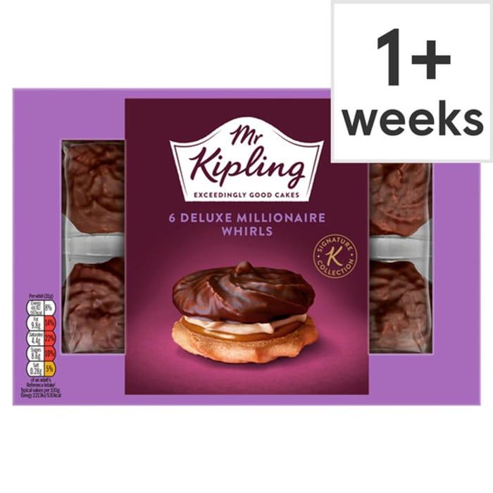 Mr Kipling Deluxe Millionaire Whirls 6 Pack