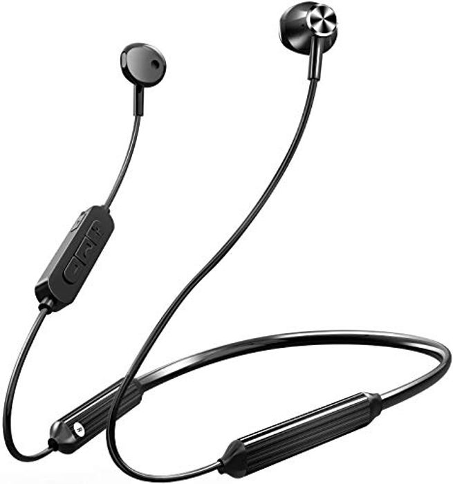 50% off Bluetooth Wireless Neckband Headphones with Built-in Mic