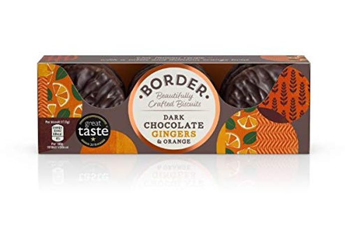Border Biscuits Dark Chocolate Ginger & Orange 150g