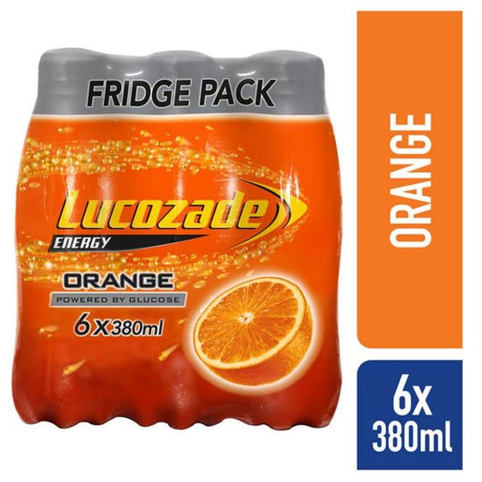 Lucozade Energy Orange 6 X380ml for £2 at Iceland