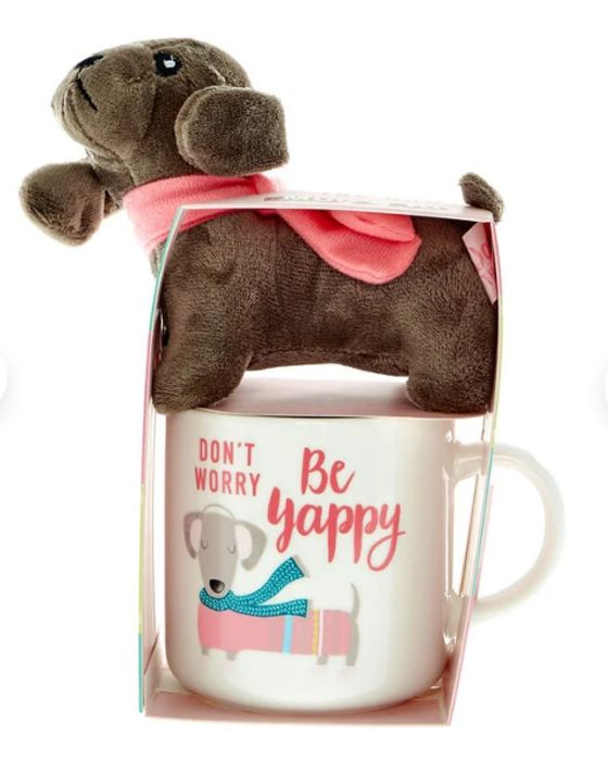 Don't Worry, Be Yappy! Dog Mug & Toy (3 for 2)