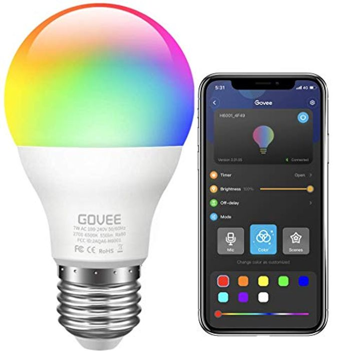 Music Sync RGB Colour Changing Dimmable LED Light Bulb