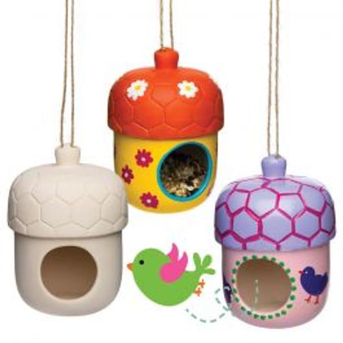 Acorn Ceramic Bird Houses