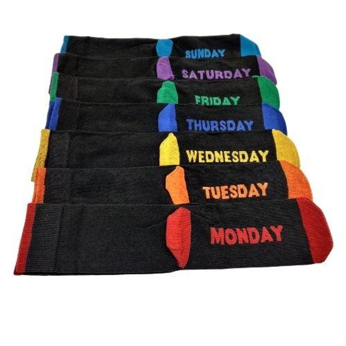 Men's 7 of Week Days Socks Assorted Colours