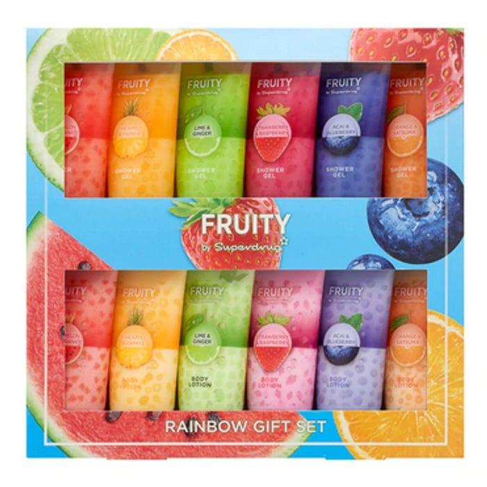 Superdrug Fruity Rainbow Shower Gel & Body Lotion Gift Set HALF PRICE