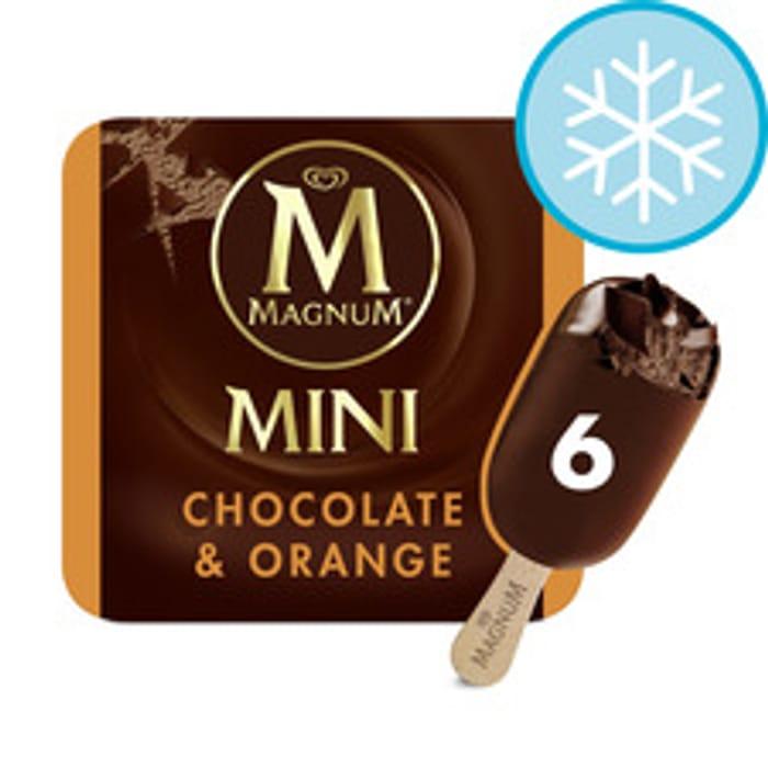 Magnum Mini Chocolate & Orange Ice Cream 6X55ml £2 Using Clubcard