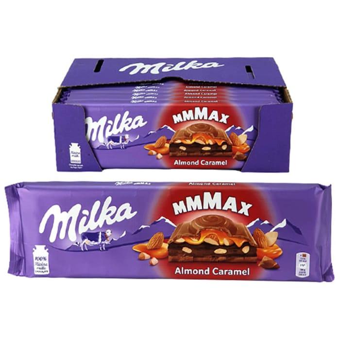 CHEAP! 12 X Milka Mmmax Almond Caramel Extra Large 300g Chocolate Bars