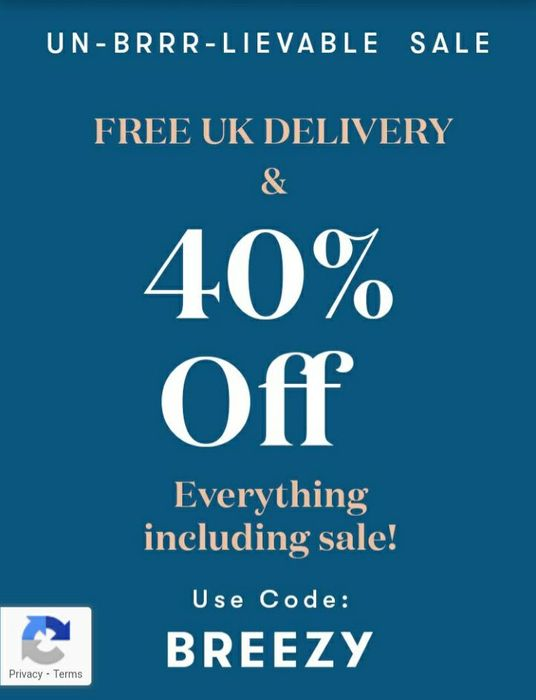 Free UK Delivery & 40% off Everything