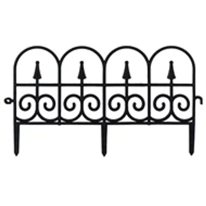 Black Decorative Garden Fence (Pack of 2)