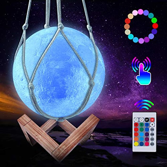 50% off 3D Moon Lamp - 16 Colours