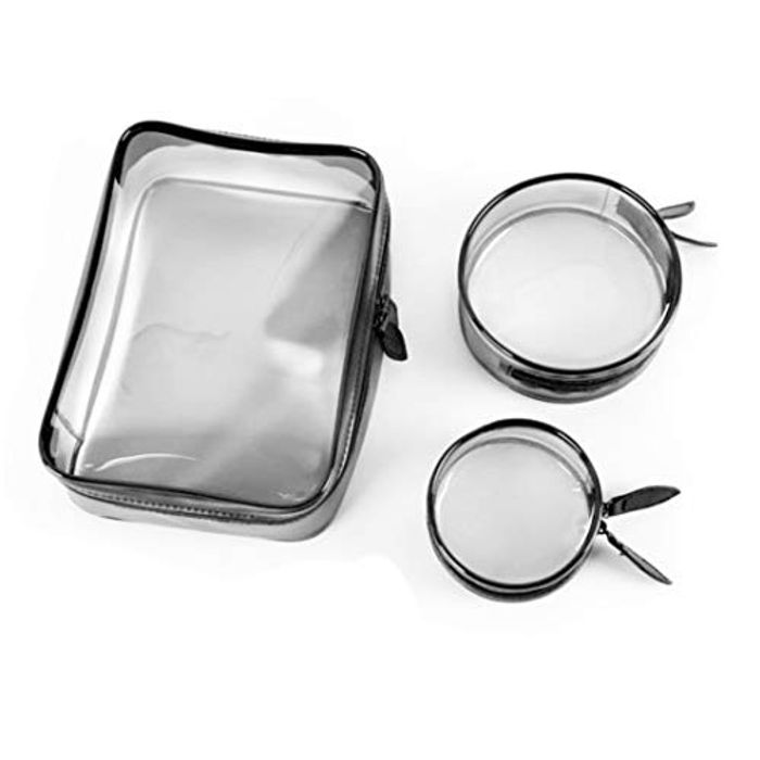 Makeup and Toiletry Bag Transparent- Set of 3 for £1 Only!