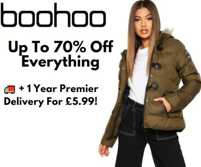 boohoo Up To 70% Off Everything Lockdown Part 2 + £5.99 Premier Delivery Pass!