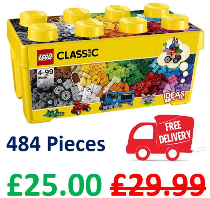 LEGO CLASSIC Medium Creative Brick Box (10696) - 484 Pieces
