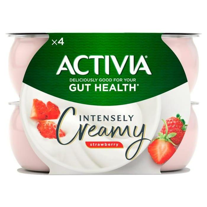 Activia Intensely Creamy Yogurts - 4 X 110g (All Varieties)