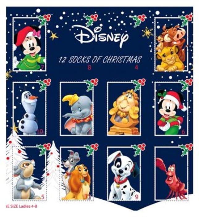 CHEAP! Disney Ladies Sock Advent Calendar - save £10