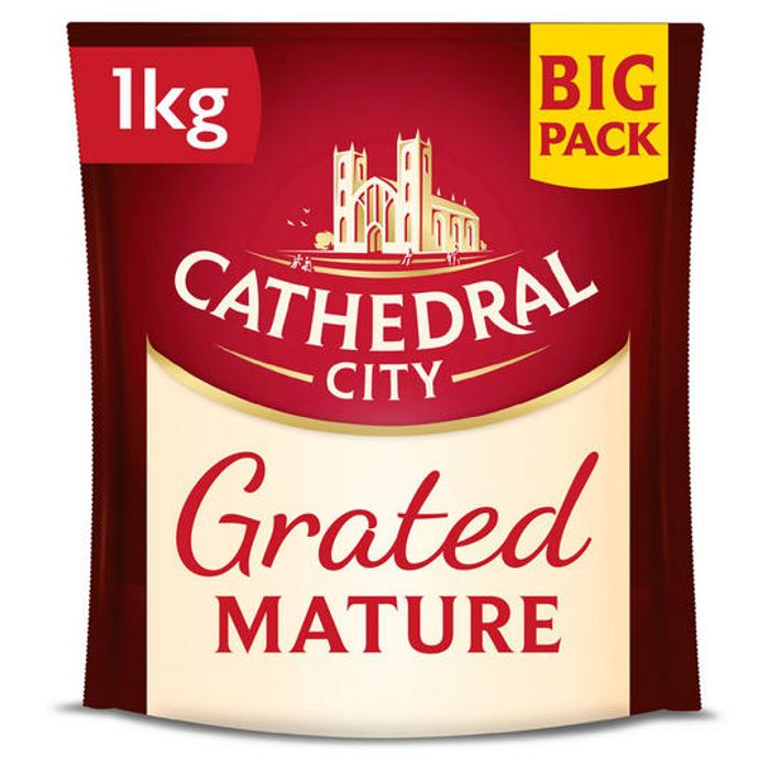 Cathedral City Grated Mature Cheese 1kg - Only £6!