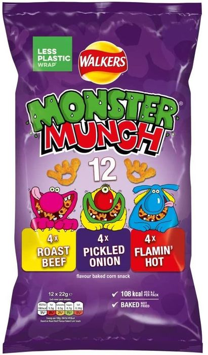 Cheap Walkers Mega Monster Munch Variety Pack12x22g - Only £1.50!