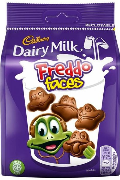 Cadbury Dairy Milk Freddo Faces Chocolate Share Bag 105g