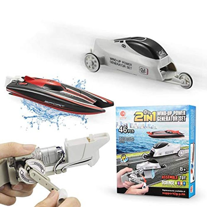 Hand Movement DIY 2 in 1 Wind-up Power Toy for Kids