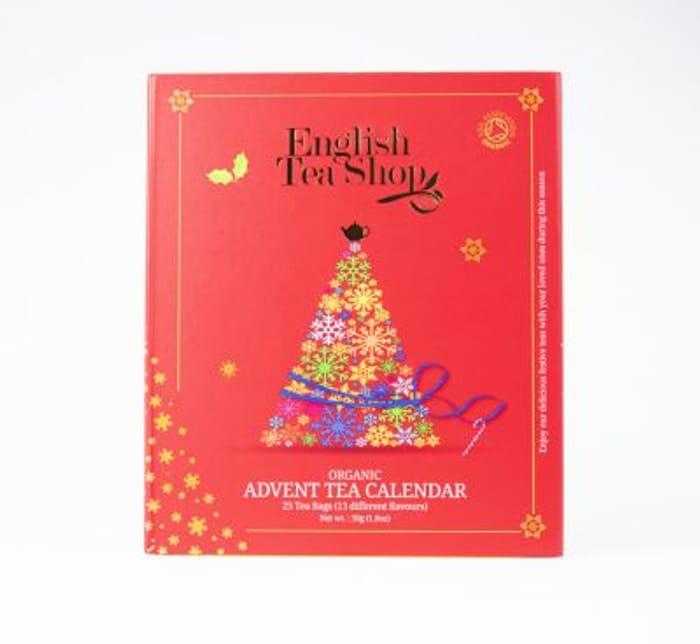 CHEAP! English Tea Shop Organic Book Style Red Advent Calendar 25 Tea Bags