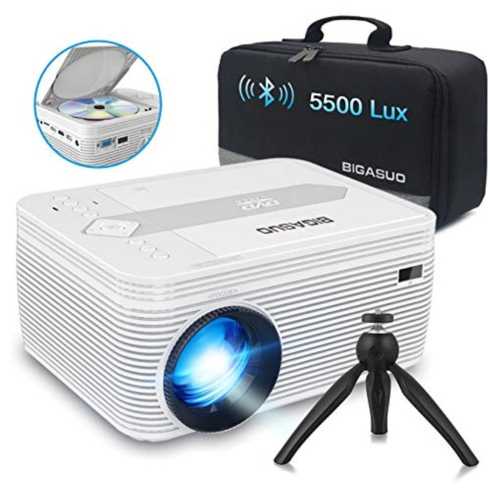 720P Native Mini Bluetooth Projector with DVD Player
