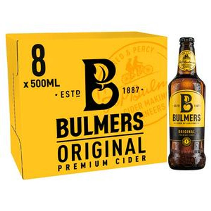 Bulmers Original Premium Cider Bottles 8x500