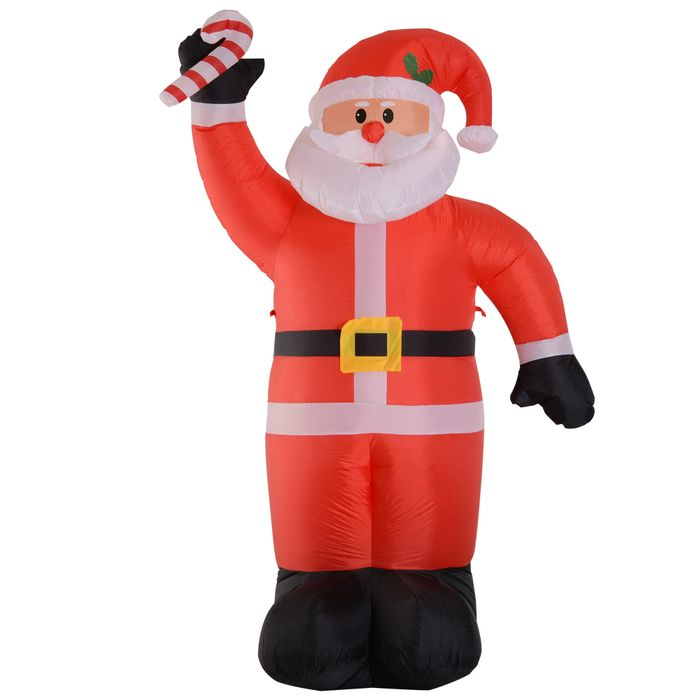 *SAVE £57* HOMCOM Inflatable Air Blown Christmas Santa Claus 240cm W/LED