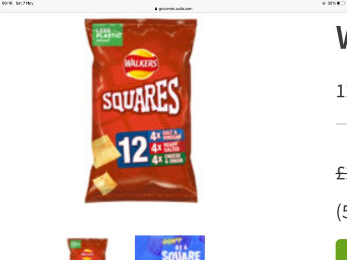 Best Price! Walkers Squares Variety Pack 12