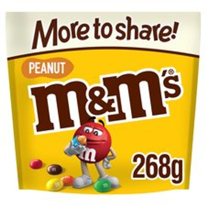 M&M Peanut * More To Share Pouch 268g