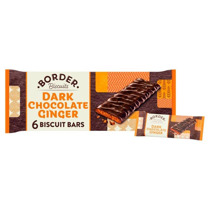 Border Dark Chocolate Ginger Chocolate Bars X 6