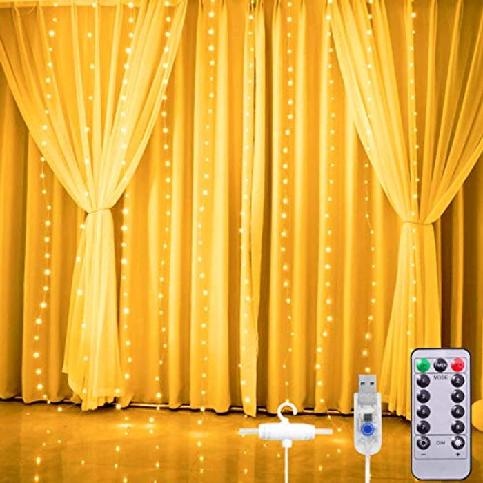 (Link in description) Save £7- 3M*2.8M USB Powered Curtain Lights