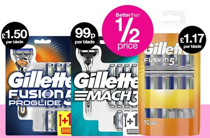 Superdrug Save On Saturday - Less Than 1/2 Price Gillette Razor Blades & Mascara