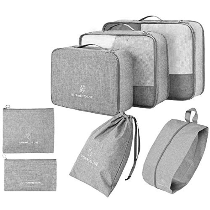 7 Set Packing Cubes for Suitcases
