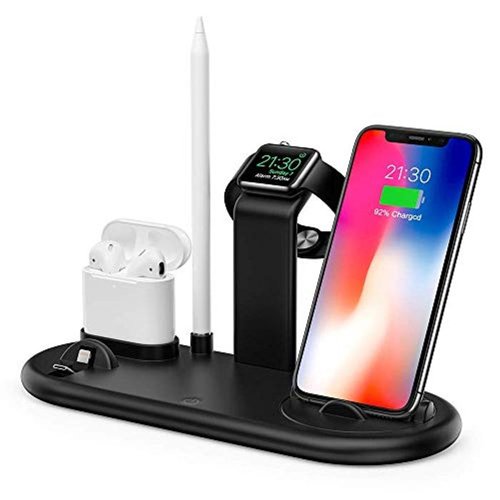 Save 50%- 5 in 1 Charging Stand Station - Iphone, Apple Watch & Accessories