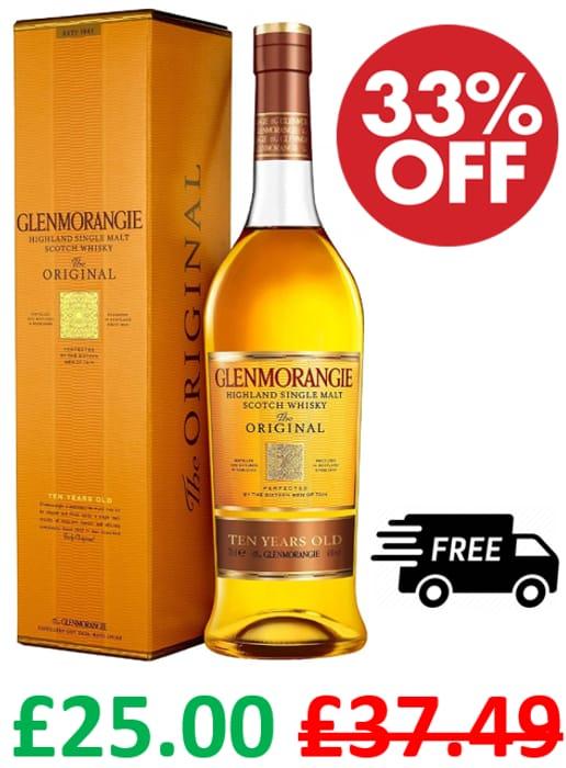 Glenmorangie 10 Year Old Single Malt Scotch Whisky 70cl **4.8 STARS**
