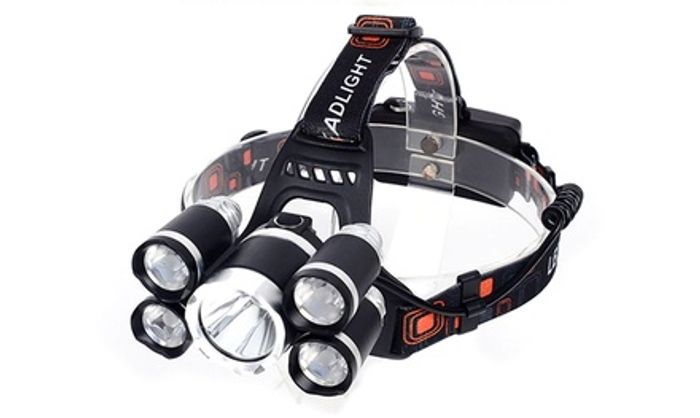One or Two Five-Bulb LED Headlamps