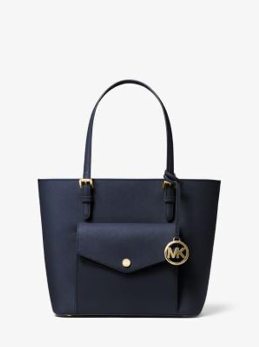 MICHAEL KORS Jet Set Medium Saffiano Leather Pocket Tote Bag