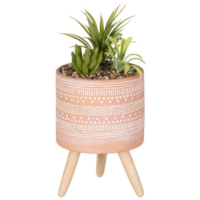 Artificial Plant in Aztec Pot