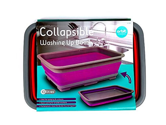 Orbit Innovations Collapsible Washing up Bowl (Colours May Vary) FREE DELIVERY