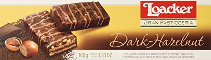 Loacker Dark Chocolate Hazelnut Biscuits, 100 G