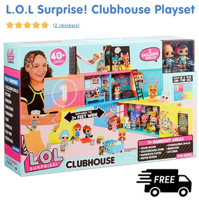 L.O.L Surprise! Clubhouse Playset + FREE DELIVERY