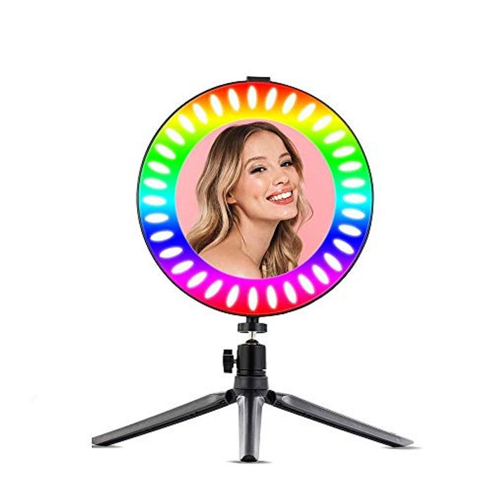 10 Inch Standing Ring Light Stand 14 Colors