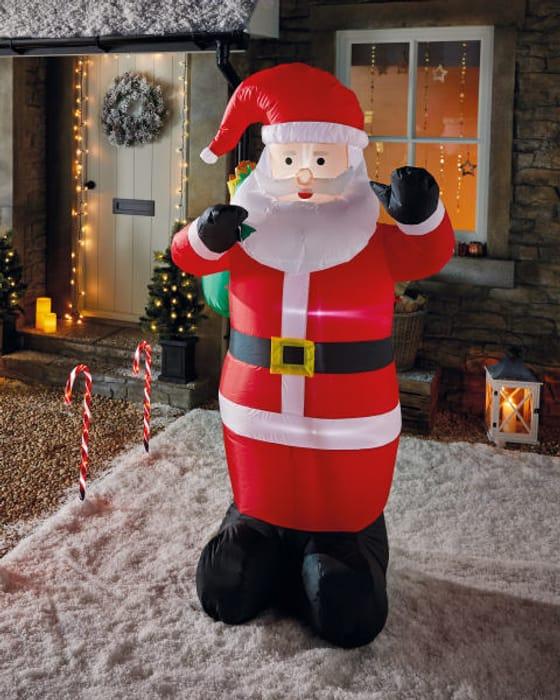 6ft Inflatable Santa, Snowman or Christmas Tree