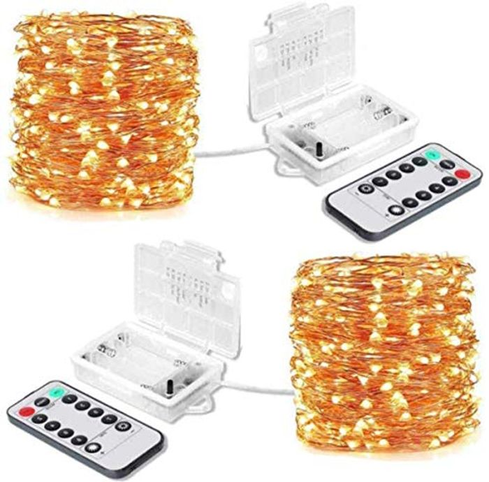 Deal Stack - 2 Pack 10m LED Fairy Lights Battery Powered